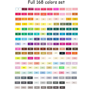 Image 5 - TOUCHNEW 168 אמנות צבע סמנים סמני עט מברשת בית ספר כפול בראשות לתיקו מנגה עיצוב אנימציה אספקת אמנות
