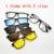 Gafas de Marco de Anteojos Completos Marco del Imán de la Correa Clip de La Miopía Gafas de Sol Polarizadas gafas de Sol