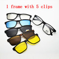 Glasses Full Frame Eyeglasses Frame Belt Magnet Clip Myopia Glasses Sunglasses Polarized Sunglasses