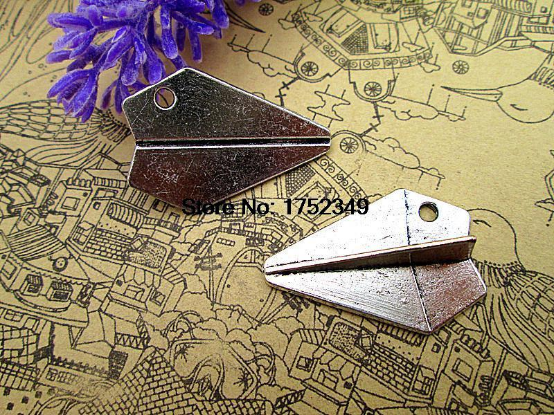 7pcs--Paper Airplane charms, Antique Tibean silver One Direction Paper Airplane charm Pendants, Harry Style, 22 x 31 mm