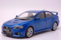 1:18 Diecast Model for Mitsubishi Lancer EVO X 10 BBS Wheels Blue Alloy Toy Car Miniature Collection Gifts Evolution