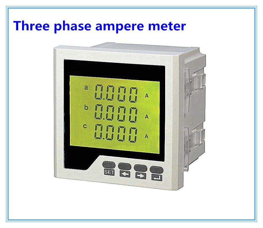 Trifase ampere meter digital LCD AC digitale misuratore di corrente 3AA serie con dimensioni diverse, amperometro digitale tester di pannelloTrifase ampere meter digital LCD AC digitale misuratore di corrente 3AA serie con dimensioni diverse, amperometro digitale tester di pannello