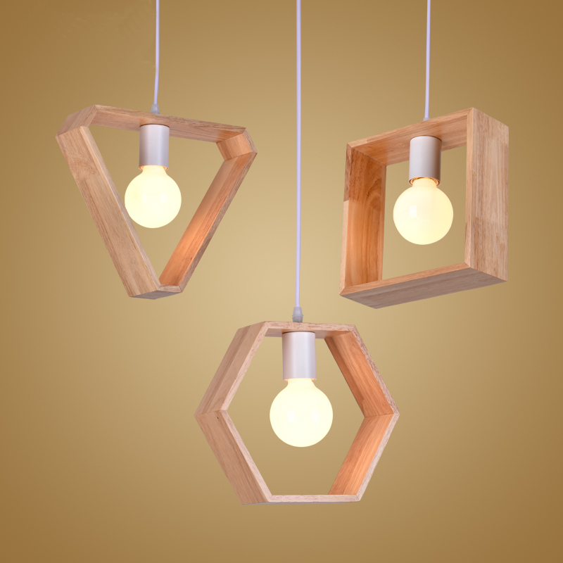 wood led pendant lights fixture modern simplicity pendant lamp art deco luminaire lampara. Black Bedroom Furniture Sets. Home Design Ideas
