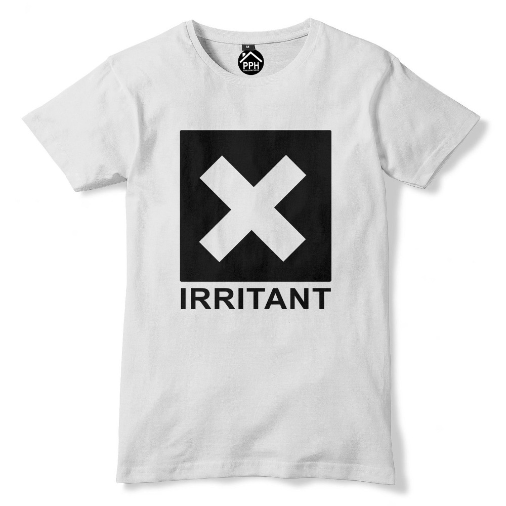 Irritant Symbole Homme Baseball Shirt-Manches longues avertissement Drôle Slogan Ennuyeux