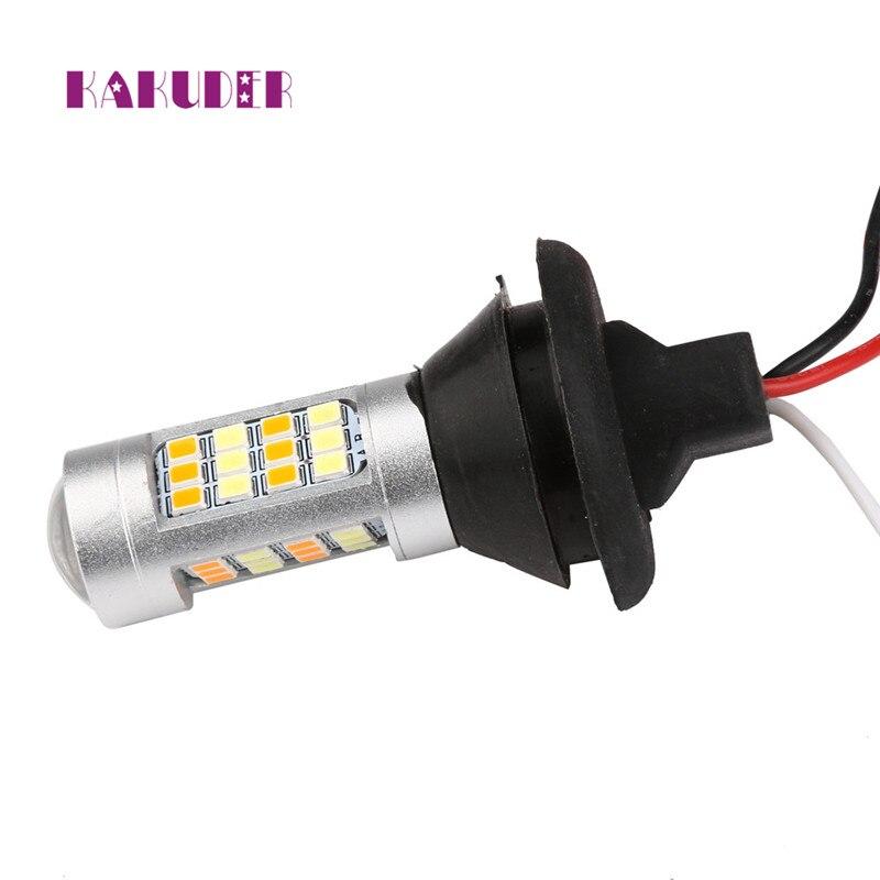DRL Turn Signals Tail 2X 1156 P21W BA15S 50W 42SMD Reverse LED Light White/Amber Luz Ligero quality NEW HOT 17may30 1piece no polarity 10 30v p21w 12w cob chips led 1156 382 ba15s canbus alta potencia drl luz reversa reino unido 720lm