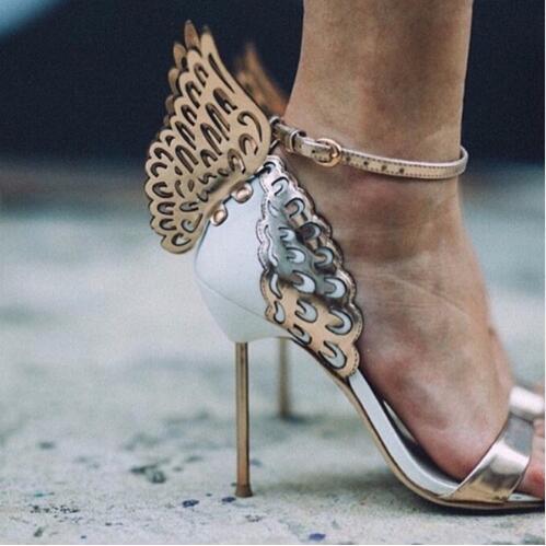 Pic Hauts Soirée Ange Cheville Spéciales As Piste Sandales Gladiateur Sangle Chaussures Aile Glitter 2019 as Boucle De Femmes Pic Papillon Offres Talons nSqPWva1