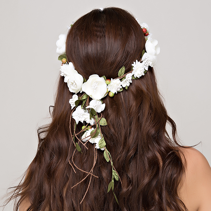Wedding Flower Wreath wedding decoration bridal hair headdress Flower Crown hair accessories adjustable party garlands