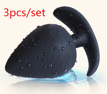 Sex shop top 3 pcc/lot silicone anal plug anal beads big butt plug anal dildo adult sex game tools anal sex toys for couples.