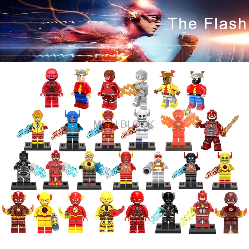For The Flash/Reverse Flash Super Heroes Justice League&Electricity Batman Movie DIY Figure Building Blocks Gift Toy