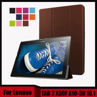 3 In 1 Ultra Slim 3 Folder Stand PU Leather Magnetic Cover Case For Lenovo TAB