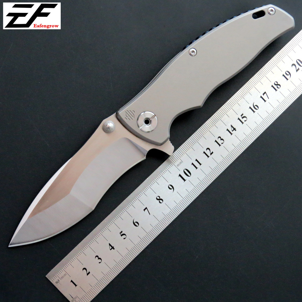 Lost price EF904 tactical Pocket knife D2 steel blade TC4 handle survivcal folding knife outdoor camping hunting EDC tool knife eafengrow ef903 folding knife d2 steel blade tc4 handle camping pocket knife outdoor hunting survival hand edc tool