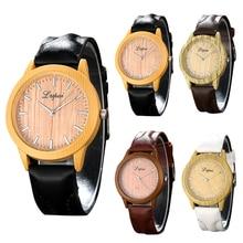 Lvpai Brand Leather Strap Woode Quartz Watch Fashion Luxury Women Dress Sport Wristwatch Ladies Dress Watchwrist reloj mujer
