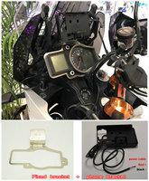 BikeGP Mobile Phone Navigation Bracket USB Phone Charging For Ktm 1050 1090 1190 1290 ADV
