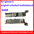 64 gb original mainboard systemboard placa base de reemplazo para apple iphone 5 5g desbloqueado buena calidad tableros principales