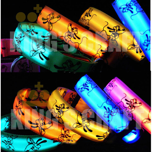Luminous LED Pet Collar , Glow Dog  Flashing Safety Collar Light Up  Mixed Color Free Shipping