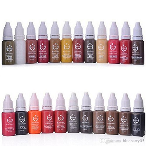 23Pcs Ink Permanent Makeup Pigment 15Ml Cosmetic 23 Color Tattoo Ink Set Paint For Microblading Eyebrow Lip Body Makeup wholesale 23pcs baodlei tattoo ink set pigments permanent makeup 15ml cosmetic color tattoo ink for eyebrow eyeliner lip