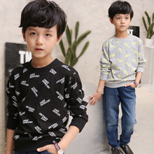Kids boys spring / autumn lengthy sleeves T-shirt 2017 new child boy clothes vogue letters T-shirt three/four/5/6/7/eight/9/10/11/12/13/14