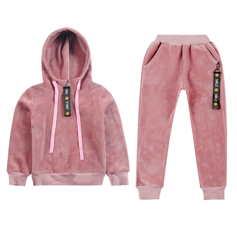 Children girls clothing set autumn winter teenage girls sport suit school kids clothes warm fleece tracksuit for girls clothes xiyu brand boys clothing set autumn tracksuit kids clothes for children sports suit for boys girls children s winter suit print