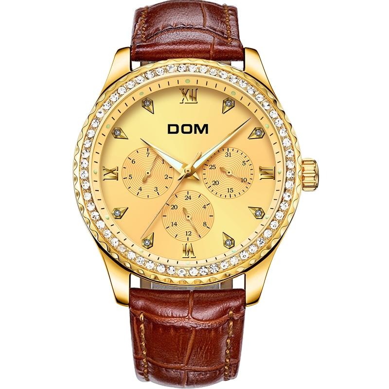 DOM meeste käekellad Top brändi luksus veekindel kuldne kvartsi - Meeste käekellad - Foto 2
