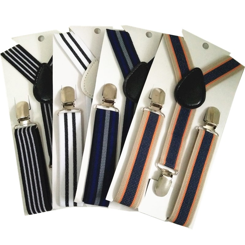 BD047-S Fashion BABY Striped Suspenders High Elastic Adjustable 3 Clips-on Braces For Boys Girls Children Christmas Gift