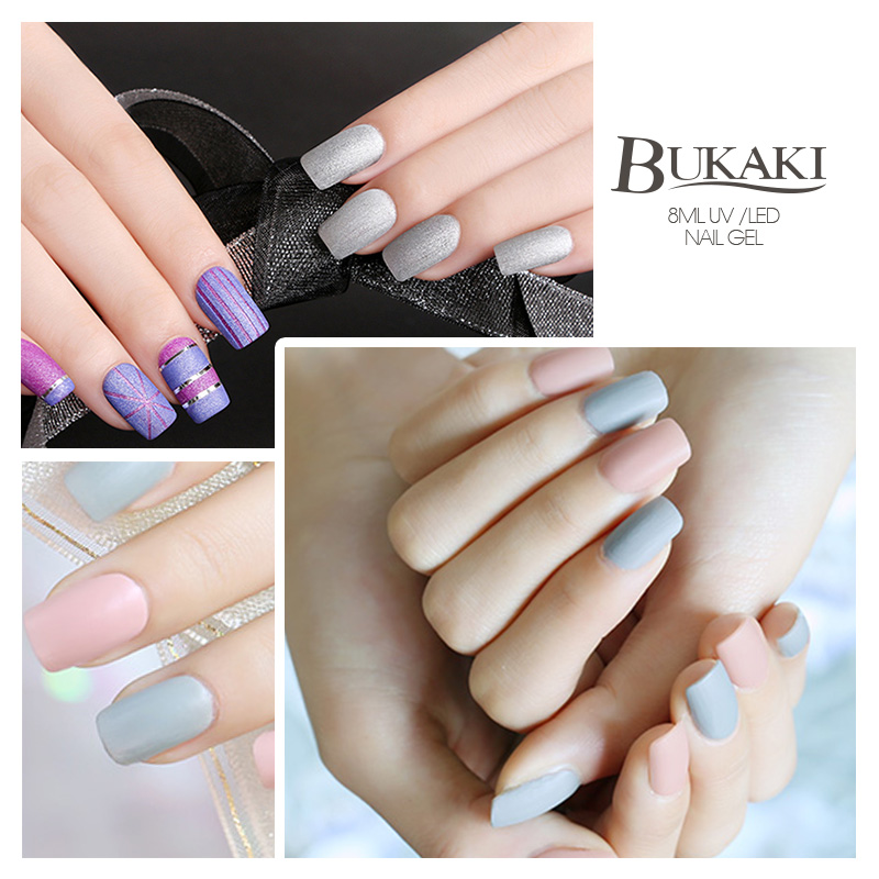 BUKAKI 1pcs Matt Gel Polish Matte Top Coat Semi Permanent Nail Gel ...