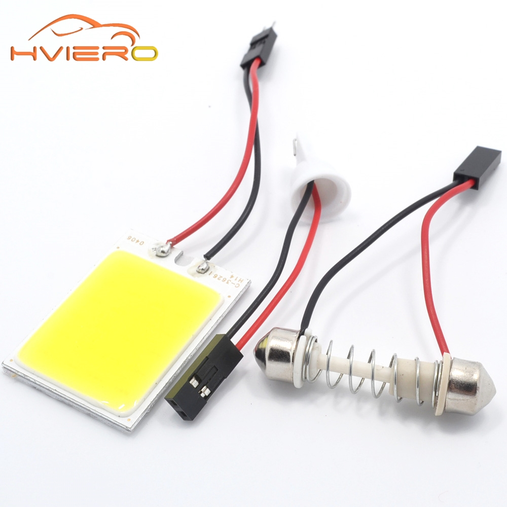 2X T10 COB 24 SMD 36SMD 48Led Panel White Red Car Led Auto Interior Parking Light Reading Map Lamp Bulb Dome Festoon BA9S DC 12V купить