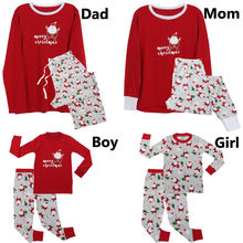 Family Matching Christmas Pajamas PJs Sets Papa Mama Kids Sleepwear Nightwear