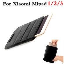 Lujo pu leather case cubierta para xiaomi mi pad 1 2 3 mipad 2 7.9 tablet pc manga bolsa bolsa casos para xiaomi mipad 3 soporte case