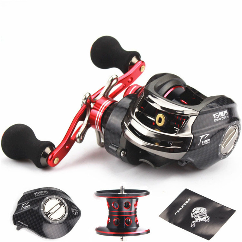 12+1BB Fly Fishing BaitCasting Reel Sea Spool Peche Wheel Strong Reel Seat Left/Right Handed For Bait Casting Rod Saltwater Tool