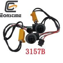 Eoneste decodificador de carga 3157b, 2 peças, canbus, sem erro, resistor de correção, sinal de seta led, decodificador flash, 50w 6ohm 6ohm