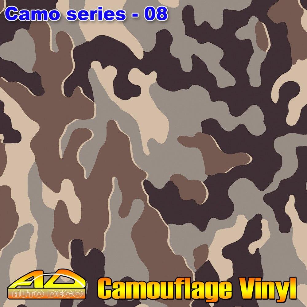 Chaud-vente Camo Film Wrap Camouflage Vinyle De Voiture Couleur Transformer Autocollant Feuille Feuille Avec Air Canal FedEx Livraison Gratuite 30 m/rouleau