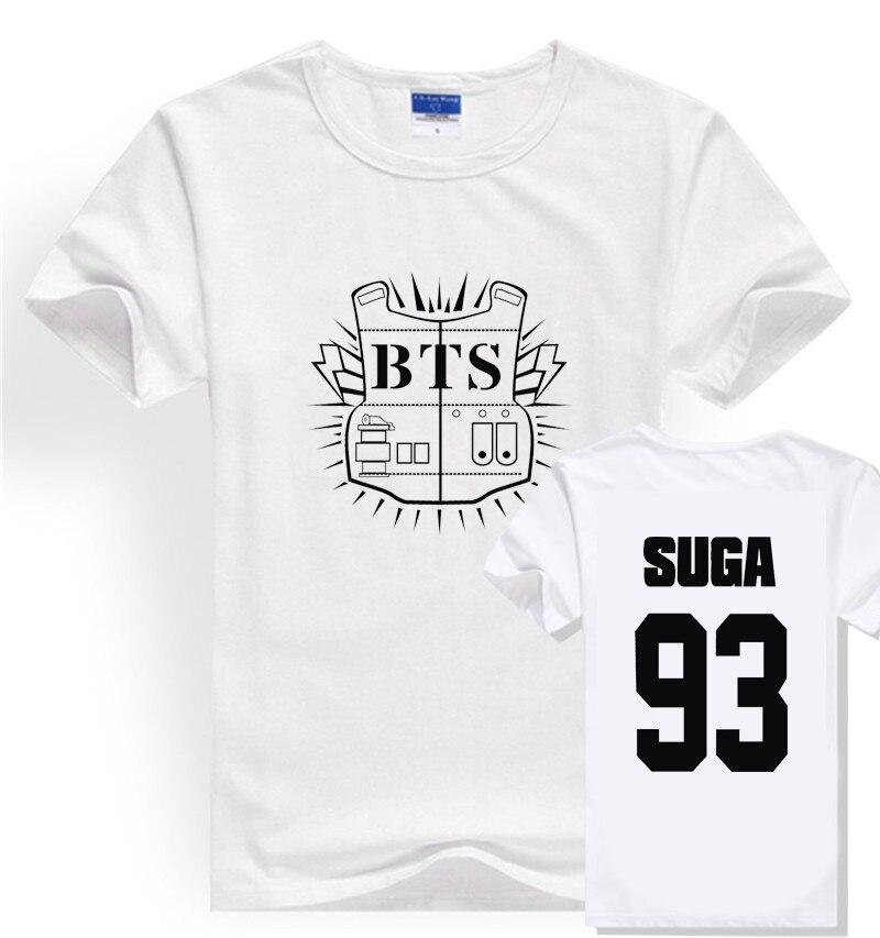 2018 Kpop BTS Bangtan Boys JUNG KOOK JHOPE JIN JIMIN V SUGA t shirt harajuku Women short sleeve t-shirt tees tops plus size