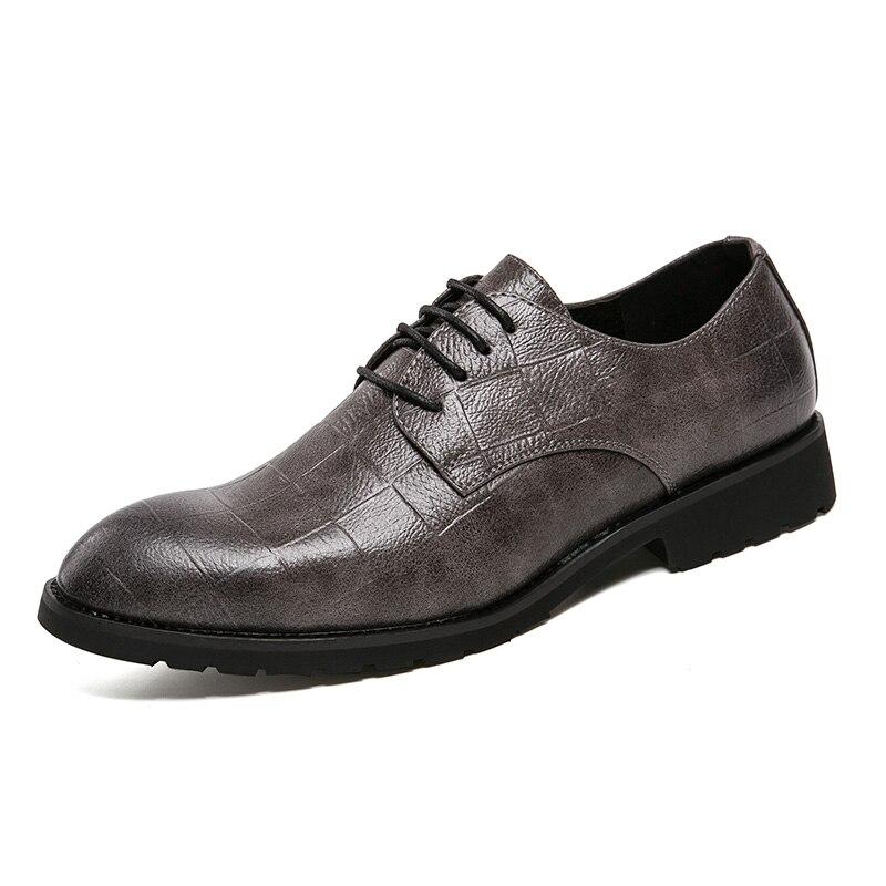 Para Sapatos Apontou Preto Elegante Formal Toe Homem Luxo Marca Homens Vestido Oxford Designer Couro De Dos Calçado Da 2018 Masculino cinza Uw4qZdxU