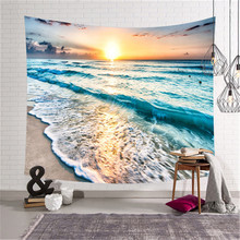 SBB Northern Europe bedroom decorate Tapestry Bedding Urban ocean Sea wave beach Seascape series Wall painting 3d