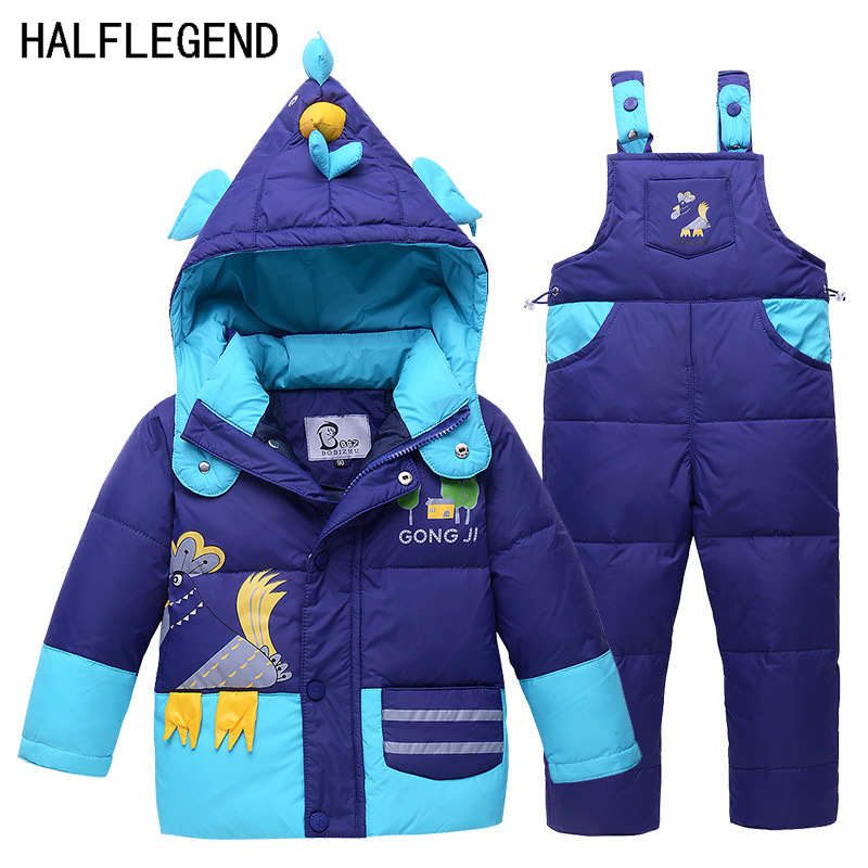2017 New Baby Boys Parka Small Chick Boy Winter Duck Down Coat Thickening Warm Jacket+Pants High Quality Down Jacket Set For Boy настенная плитка azteca elite rock pearl 30x60