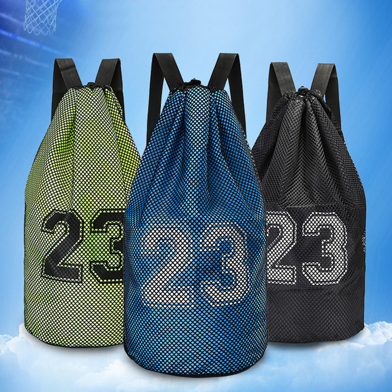Solf basketball sports bags with Size 55*26cm quality nylon drawstring backpack for basketball with multicolor choice for sports