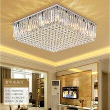 ZYY современная роскошная хрустальная люстра K9, светодиодный светильник для гостиной, ресторана, Хрустальная потолочная лампа E14, приспособление для внутреннего освещения
