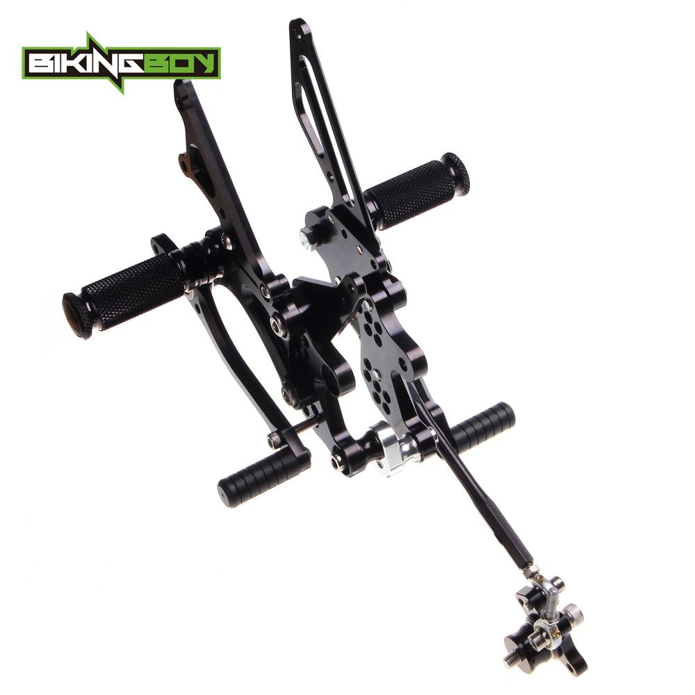 BIKINGBOY 1 Set Adjustable Rearsets Rear Sets Footpegs Footrests For HONDA CBR 1000 RR Fireblade 2004 2005 2006 2007 04 07