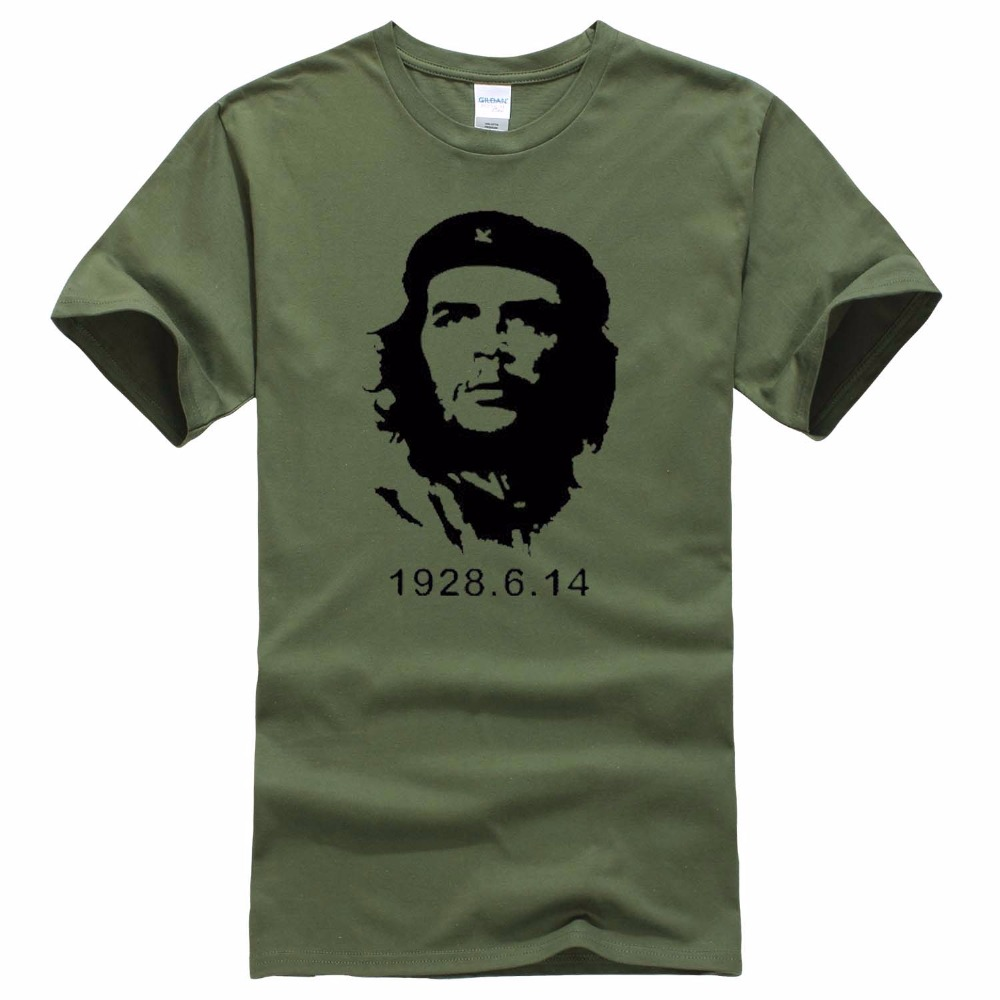 Che Guevara Hero Men   T     Shirt   High Quality Printed 100% Cotton Short Sleeve   T  -  Shirts   Hipster Pattern Tee Cool Men Clothing