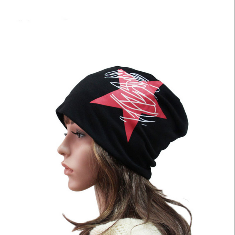 2017 Newest Fashion Women Winter Warm Caps Cotton Elastic Soft Beanie Skullies Knitted Hats Men Beanies Star 4 Colors fashion cotton butterfly pattern lace hollow jacquard hats for women summer elastic thin soft breathable beanie skullies hat