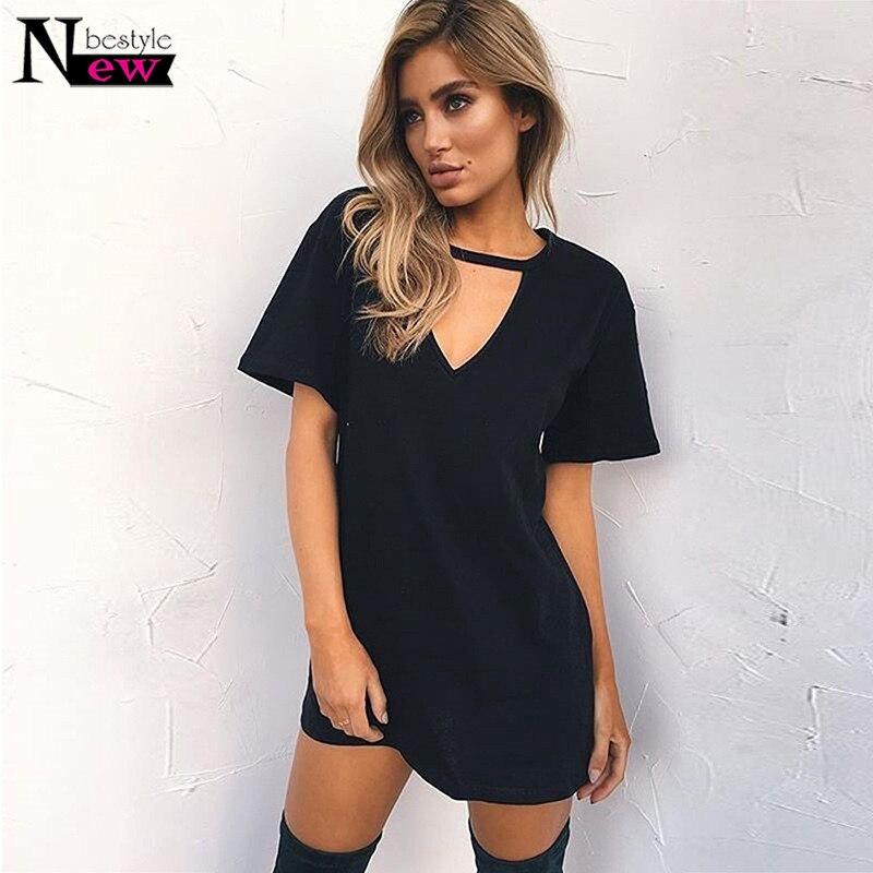 choker neck t shirt dress