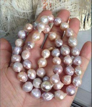 Jewelr 004906 12-13mm natural Australian south sea pink purple kasumi pearl necklace