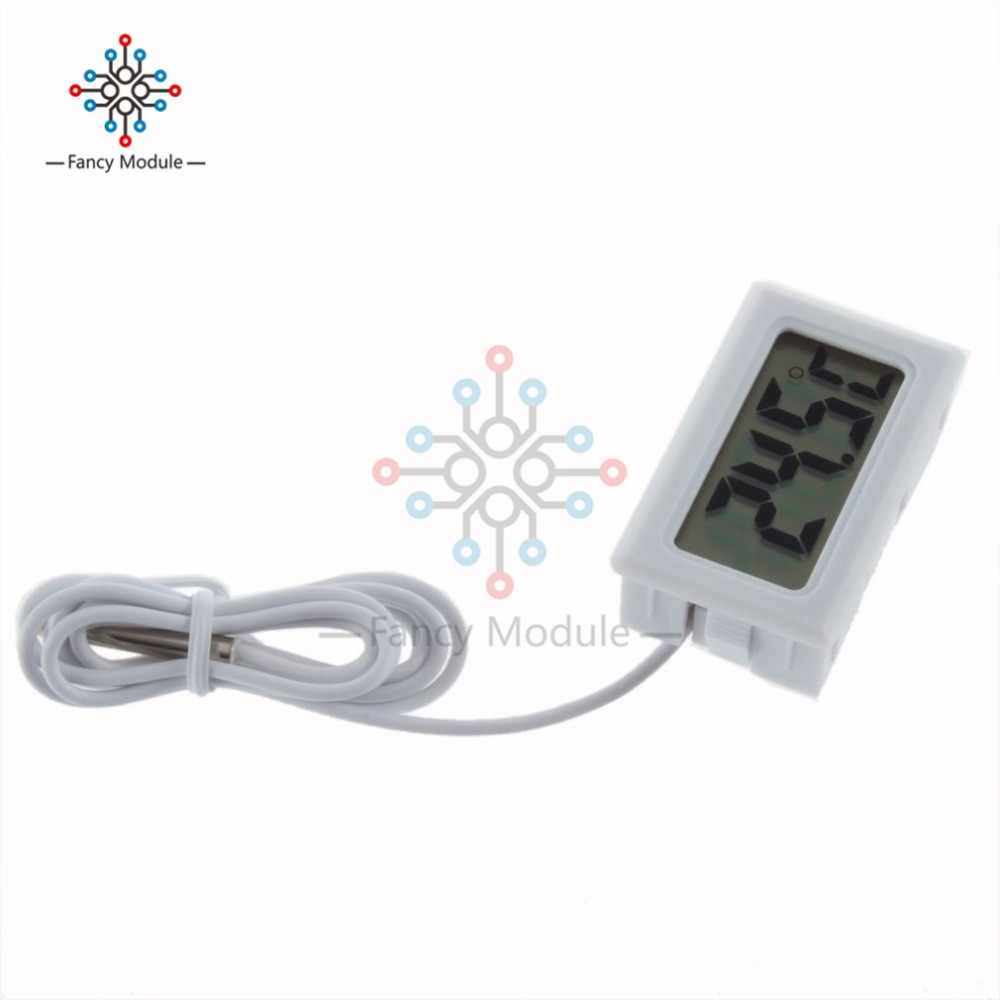 Mini Digital LCD Insert Thermometer Gauge Temperature Probe Embedded Thermograph