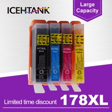 ICEHTANK Remanufactured Ink Cartridge Replacement For HP 178 178XL For HP178 Photosmart 5510 5515 6510 7510 B109a 3070a Printer