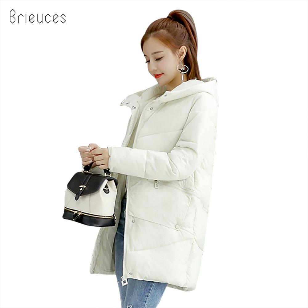 Brieuces 2018 wadded jacket female new winter jacket women down cotton jacket long   parkas   ladies winter coat plus size S-3XL