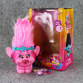 22cm Dreamworks Trolls Toys With Light Trolls Poppy Figure Trolls Movie Touch It Then Light UP Birthday Toy