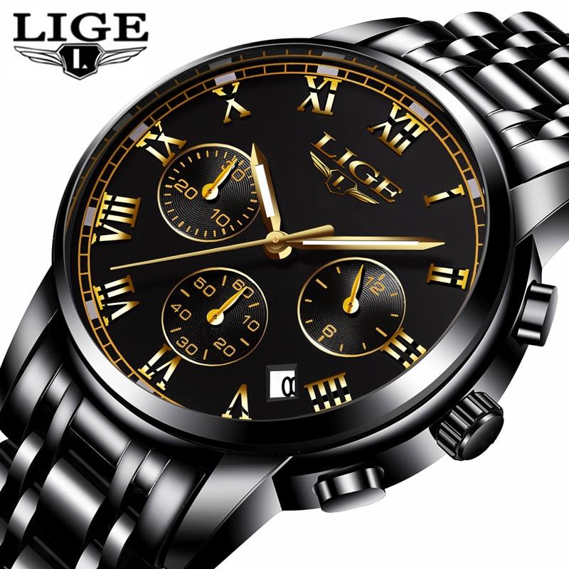LIGE Fashion Sport Watch Mens