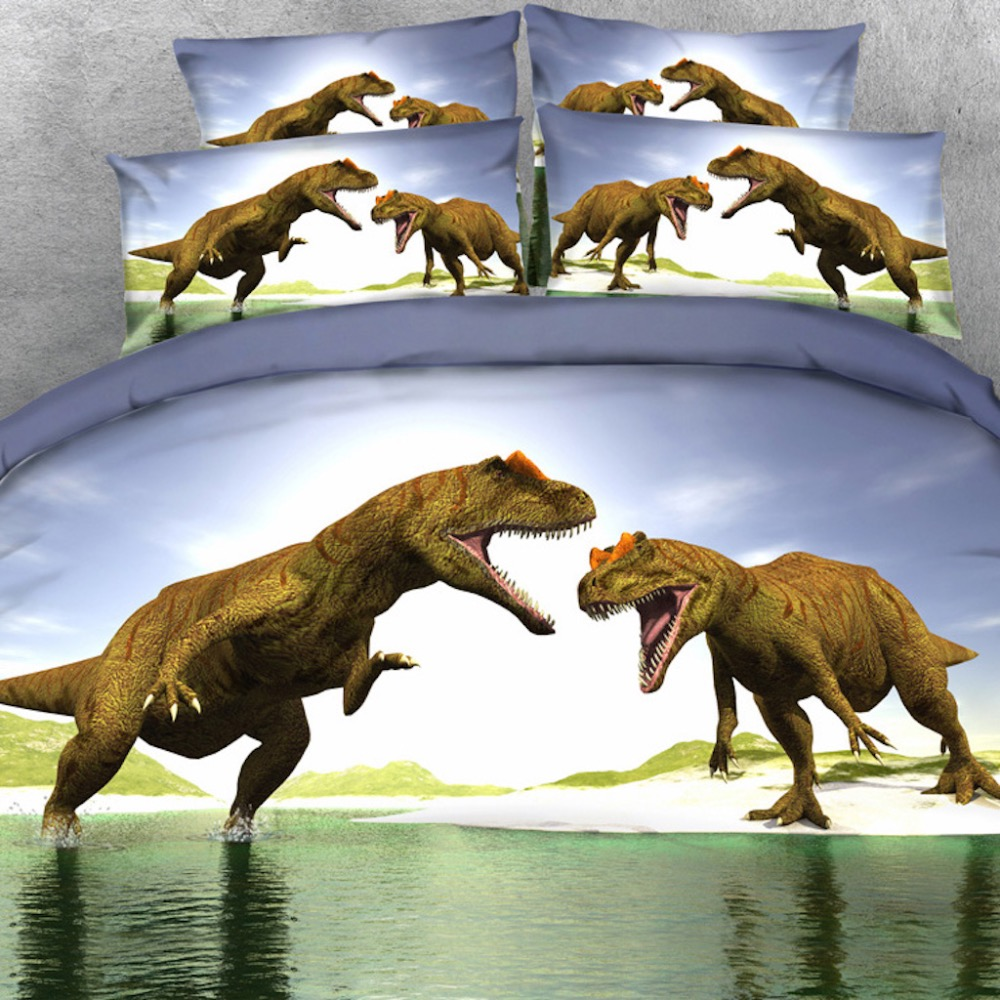 Royal Linen Source Brand 3PCS PER SET New Dinosaur land Theme 3d HD bed set Children Bedding Set Child Bed Sheet Set