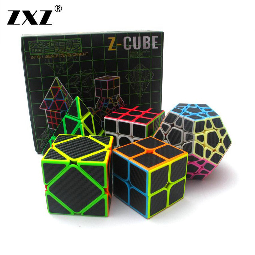 все цены на Carbon fibre Classic Toys ABS Sticker Block High Quality Speed Magic Cube Colorful Learning&Educational Puzzle Cube Magic Toys
