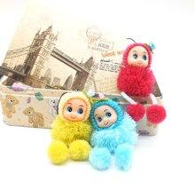 Lovely small Dwarf Pompom Keychain Child Cartoon Cute Mini Plush Dolls Soft Stuffed Toys Keyring Key Chain Kids Keychain Baby